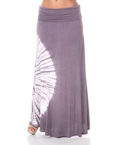 Look at this #zulilyfind! Charcoal Tie-Dye Maxi Skirt by White Mark #zulilyfinds