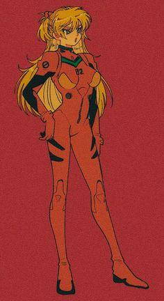 Neon Genesis Evangelion, Manga Art, Anime Manga, Anime Art, Asuka Langley Soryu, Cyberpunk Aesthetic, Card Captor, Old Anime, Aesthetic Anime