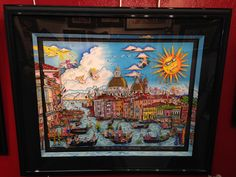 """NEW FOR 2015!! """"The Sun Rises Over Venice"""" By Charles Fazzino! Special framing included! (310) 576-1000 info@artonegallery.com"""