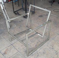 Welded Furniture, Industrial Design Furniture, Hardwood Furniture, Iron Furniture, Steel Furniture, Furniture Design, Diy Furniture Projects, Home Decor Furniture, Metal Frame Chair