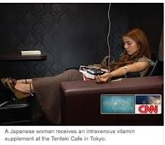 In Japan, for instance, IV cafes offer entire menus of vitamin drips, from jabs that burn fat to those claiming to boost skin radiance.