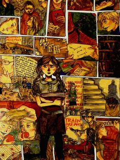 """""""The Book Thief""""  I'd like to have this illustration. Strong, strange, terrific book."""
