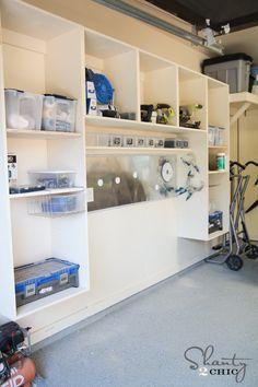 Free Plans! DIY Garage Wall Storage Unit // Shanty-2-Chic.com