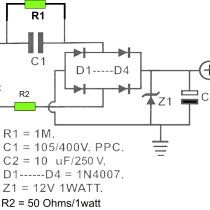 These are DC power supply circuit which designed without transformer (trafo). The circuit draws about AC. Use for small electronic application only Hobby Electronics, Electronics Projects, Circuit Drawing, Power Supply Circuit, Electronic Schematics, Circuit Diagram, Arduino, Transformers, Hack Internet