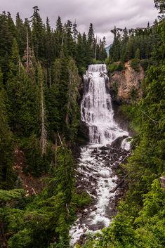 above Alexander Falls near Whistler Canada - These Falls are near the site of the 2010 Winter Games in the Callahan Valley near Whistler, Canada. this is about 10 km\'s above the highway to Whistler the 99 also known as the Seato Sky highway - an apt name.