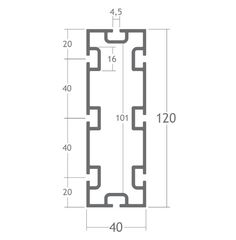 M2140   Pedrosa   Sistema de Perfis Modulares   Estruturas de alumínio para stands, displays, vitrines e outros equipamentos promocionais