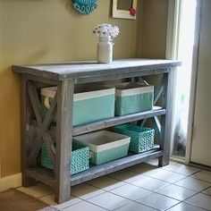 Alter this Ana White plan to make a console table the perfect size for your space! --- Ah! I want to do this!