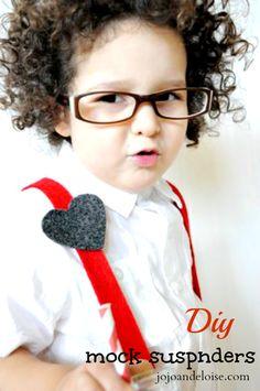 DIY Suspenders Tutorial... for the little man of the house. SO cute! #kids jojoandeloise.com