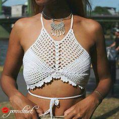 Modelo Capri cultivo parte superior del bikini tapa por Pomcloset