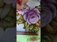 Ana Ferrante - Pinturas em tecido - Rosas vídeo 5 - YouTube