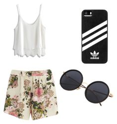 """Casual"" by cupcakelizzy0131 ❤ liked on Polyvore featuring VILA, Chicwish and adidas"