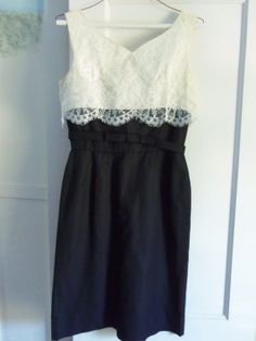 Sexy Black and White Cocktail Dress with by MacaroniVintage White Lace Cocktail Dress, Bolero Jacket, Piece Of Clothing, Suits For Women, Black And White, Formal Dresses, Sexy, Skirts, Jackets