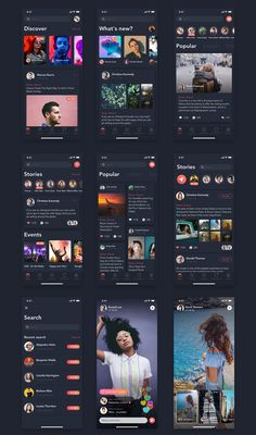Buy ZINGO - Social UI Kit for Mobile App by hoangpts on ThemeForest. This kit includes is a high quality pack of social app screens for iPhone X with trendy useful components that yo. Mobile Application Design, Mobile Ui Design, App Ui Design, Interface Design, Android App Design, App Design Inspiration, Mobile App Ui, Music App, Chat App