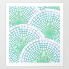 Ocean, Waves, Drawing, Digital, Pattern, Abstract, Figurative, Circles, Geometric, Shapes, White, Blue, Green, Aqua, Water, Scrollwork, Art, Creative, Sea, Mist, Foam, Intricate, Overlap, Repeat, Alternate, Spiral, Turquoise, Calm, Surreal, Pretty