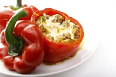 Ground Beef Stuffed Green Bell Peppers With Cheese #Recipe