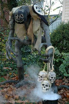 Build Grim for Halloween! Instructions on HoosierHomemade.com