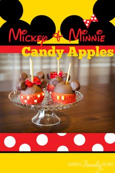 These apples are adorable! Perfect for a Disney party or even just a fun snack for the kiddos! #Disney #recipe