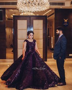 Swoon Over These Gorgeous Wedding Gowns For Reception That We Spotted. For more such information stay tuned with shaadiwish. Wedding Couple Cartoon, Indian Wedding Couple, Indian Reception, Reception Gown, Emerald Green Gown, Lavender Gown, Red Gowns, A Line Gown, Mermaid Gown