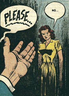 NO - Vintage romance comics mid-century blonde hair girl retro kitsch vintage comic' by HouseOfBissy Comic Books Art, Comic Art, Book Art, Arte Do Pulp Fiction, Art Pulp, Comics Vintage, Comics Illustration, Comic Book Panels, Comic Kunst
