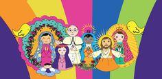 Esses são alguns dos nossos santos!! Lindos, né? Seu Santo favorito é um desses? Se não, qual é ele/a? #SalveRainha #CuidameSempre