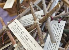 Twig crosses made at St. John's Episcopal Church in Logan, Utah, on Good Friday. The crosses were placed around Cache Valley for people to find. (Photo by Jennifer Meyers)