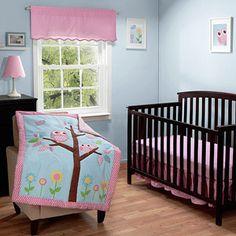 Walmart: Baby Boom Owls in a Tree Crib Bedding Set - Value Bundle Owl Bedding, Baby Bedding Sets, Crib Sets, Bedding Decor, Nursery Room, Girl Nursery, Girl Room, Nursery Ideas, Disney Nursery