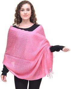 Pink Pashmina http://www.homeofpashmina.com/designer-pashminas-basket-weave-c-4_11.html