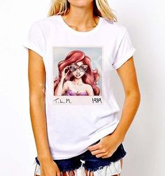 New Popular Funny Disney Parody Taylor Little Mermaid 1989 T-Shirt Tee Women