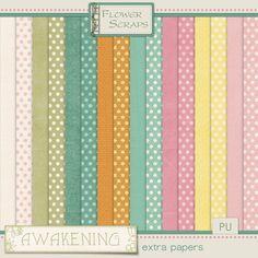 Awakening Extra Papers - $1.39 : Digital Scrapbooking Studio #flowerscraps #thestudio #digiscrap #easter
