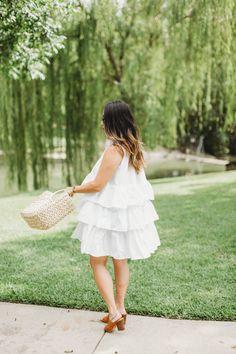White Ruffled Dress from ASOS (Under $100!)