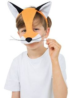 Childrens Fox Mask by Fancy Dress Ball Children's Headband with attached Fox Ears and Fox nose. Christmas Costumes, Halloween Costumes, Masquerade Ball Dresses, Fancy Dress Ball, Christmas Dress Women, Felt Mask, Fox Ears, Animal Masks, Animal Costumes