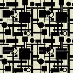 arte abstracto geometrico blanco y negro - Buscar con Google