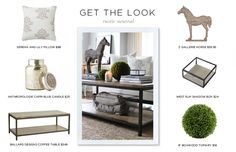 How to Style a Coffee Table #theeverygirl; love the horse from Z Gallerie!!!