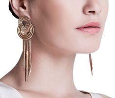 Saturn Rose Gold Earrings