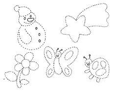 Resultado de imagen para actividades para preescolar Tracing Worksheets, Preschool Worksheets, Preschool Activities, Preschool Coloring Pages, Pre Writing, Felt Patterns, Drawing For Kids, String Art, Projects For Kids
