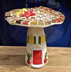 # 60 FRANGIPANI MUSHROOM Mosaic Pots, Beautiful Sunrise, Bird Watching, Wall Plaques, Kara, Mosaics, Stuffed Mushrooms, Pottery, Island
