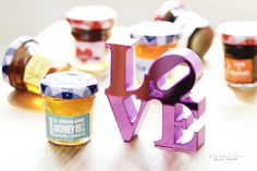MODERN LOVE NOTES (BONNE MAMAN HONEY / JAM) - We love Bonne Maman Honey and Jam!  Our customers do too! This is a new collection - Modern Love Notes. A great way to give thanks to your family and friends who are there to celebrate your love.Dimension: 4.7 cm Weight: 30g Favors for Jam: AssortedQty - 30 bottlesReflect wedding couple name, wedding date and preferred love note in the note to seller field upon checkout. 1. Home is where the honey is 2. Sweets from the sweethearts 3. Today, our…