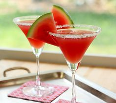 Watermelon Margarita...very similar to the Brio/Bravo recipe..uses Vodka instead of Bacardi Razz..and Limoncello, lime...