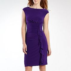 American Living Short Sleeve Ruffle Dress - jcpenney (Only $50) @Allyson Hickey this is a good bridesmaide dress