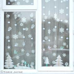 Winter Wonderland Christmas Window by toriejayne, via Flickr