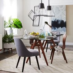 "Jensen Table Bom 76""glasswalnut  Glass Table Glass And Big Awesome Glass Tables For Dining Room Inspiration"
