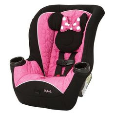 Disney Apt Convertible Car Seat - Mousekeeter MinnieFeatures:Side Impact Protection2 integrated cup holders5-point harness with up-front adjustmentLATCH equippedDeluxe Disney Softgoods PackageManufact...