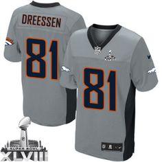 Joel Dreessen Elite Jersey-80%OFF Nike Joel Dreessen Elite Jersey at Broncos Shop. (Elite Nike Men's Joel Dreessen Grey Shadow Super Bowl XLVIII Jersey) Denver Broncos #81 NFL Easy Returns.