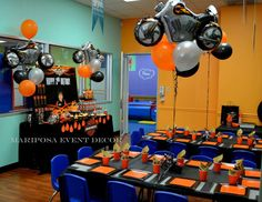 Harley Davidson Motorcycle Party  Birthday Party Ideas   Photo 1 of 28