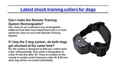 Make sure you go through multiple positive electronic dog training collar reviews before choosing Alpha Dog collars and ensuring that your dog is well mannered.