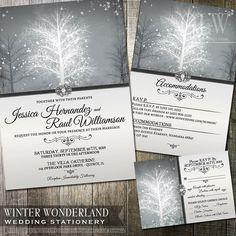 Hey, I found this really awesome Etsy listing at https://www.etsy.com/listing/165973511/winter-wonderland-wedding-invitation
