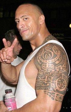 Dwayne Johnson Tribal Tattoo The Rock