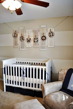"""My name on the wall. ;) oh and ya its a nursery. I just like the name, the design is """"eh"""" overall."""