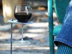 Boho Wine Glass Holder/ Garden Wine Holder by stripeycity on Etsy, $25.00