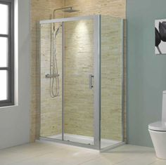 Inspirational bathrooms at affordable prices. Buy your dream bathroom suite online. Loft Bathroom, Bathroom Ideas, Safety Glass, Shower Enclosure, Sliding Doors, Wall Tiles, Contemporary Style, Tile Floor, Mirror